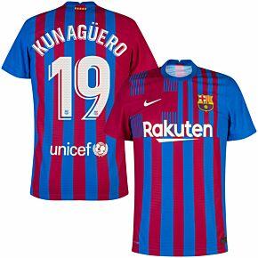 21-22 Barcelona Dri-Fit ADV Match Home Shirt + Kun Agüero 19 (Official Printing)