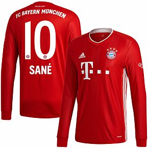 20-21 Bayern Munich Home L/S Shirt + Sané 10