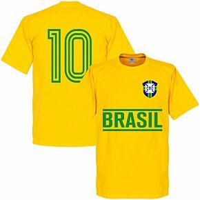 Brazil Team No.10 Tee - Yellow