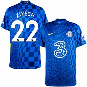 21-22 Chelsea Home Shirt + Ziyech 22 (Premier League)