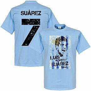Luis Suarez Uruguay Flag Tee - Sky