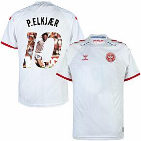 21-22 Denmark Away Shirt + P. Elkjaer 19 (Gallery Style)