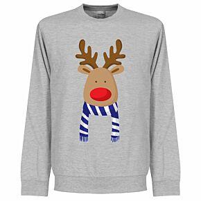 Reindeer Blue / White Swaetshirt - Grey