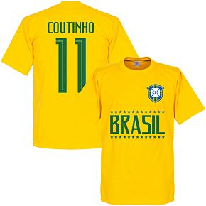 Brazil Coutinho 11 Team Tee - Yellow