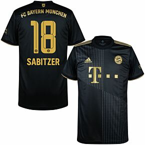21-22 FC Bayern Munich Away Shirt + Sabitzer 18 (Official Printing)