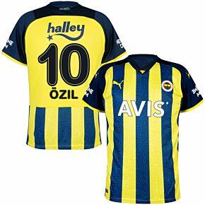 21-22 Fenerbache Home Shirt + Özil 10 (Fan Style Printing)