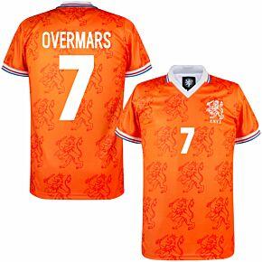 1994 Holland Home Retro Shirt + Overmars 7 (Retro Flock Printing)