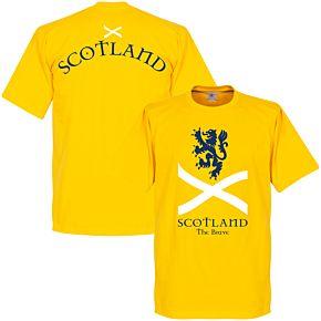 Scotland the Brave Tee - Yellow