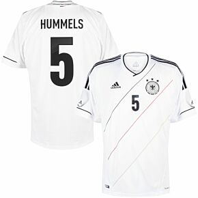 adidas Germany Home Hummels 5 Shirt + adidas Friendly Match Patches 2012-2013 - NEW - Size L