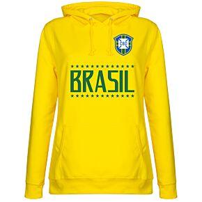 Brazil Team Womens Hoodie - Yellow