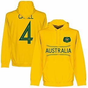 Australia Cahill 4 Team Hoodie - Gold