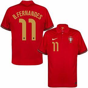 20-21 Portugal Home Shirt + B.Fernandes 11 (Official Printing)