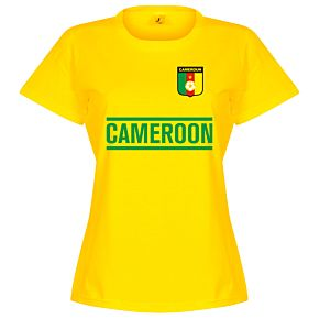 Cameroon Team Womens Tee - Yellow