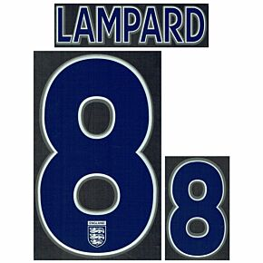 Lampard 8 (Kids) - 05-07 England Home KIDS Official Name and Number
