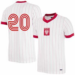 1982 Poland Home Retro Shirt + No.20