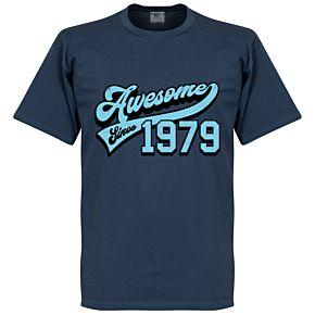 Awesome Since 1979 Tee - Denim/Sky