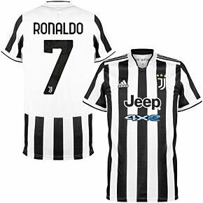 21-22 Juventus Home Kids Shirt + Ronaldo 7 (Official Printing)