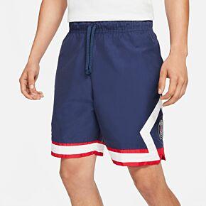 21-22 PSG x Jordan Jumpman Shorts - Navy/White