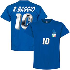 1994 Italy Home Baggio Gallery Tee - Royal