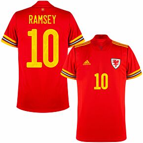 20-21 Wales Home Shirt + Ramsey 10 (Official Printing)
