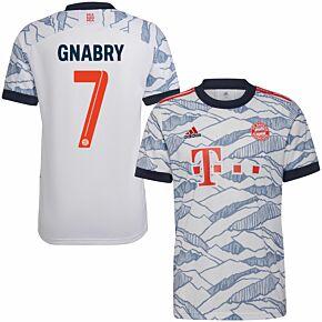 21-22 Bayern Munich 3rd Shirt + Gnabry 7 (Official Printing)
