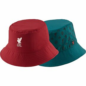 21-22 Liverpool Reversible Bucket Hat - Red/Green