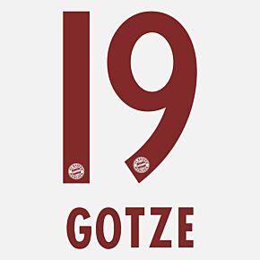Götze 19 - Bayern Munich Away 2014 / 2015 Official Name & Number