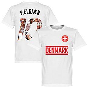 Denmark P. Elkjaer 10 Gallery Team Tee - White