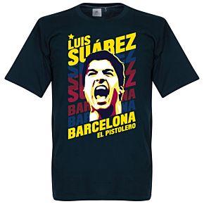 Luis Suarez Barcelona Portrait Tee - Navy