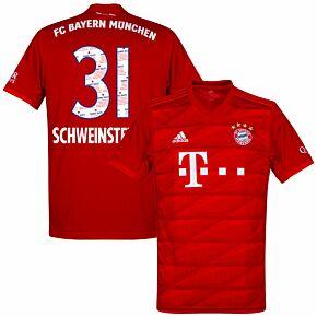 adias Bayern Munich Home Schweinsteiger 31 Jersey 2019- 2020 (Danke Bastien Printing)
