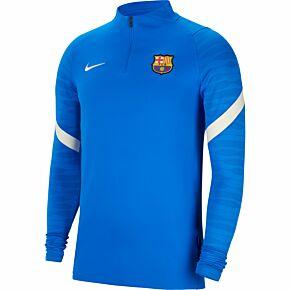 21-22 Barcelona 1/4 Zip L/S Drill Top - Blue