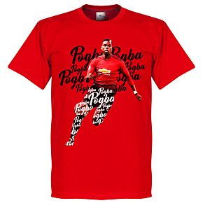 Pogba Script KIDS Tee - Red
