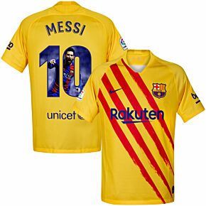 19-20 Barcelona 4th Shirt + Messi 10 (Gallery Print)