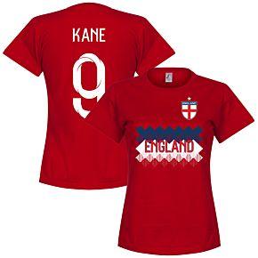 England Kane 9 Team Womens Tee - Red