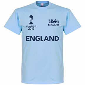 England Cricket World Cup Winners Tee - Sky