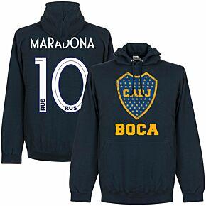 Boca Maradona 10 CABJ Crest KIDS Hoodie - Navy