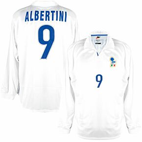Nike Italy 1998-1999 Away Shirt L/S - NEW Condition (w/tags) - Match Issue No.9 Albertini - Size L