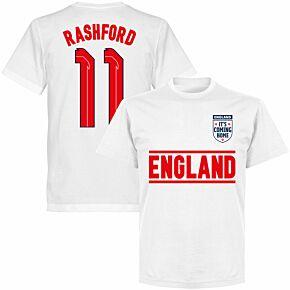 England Rashford 11 Team KIDS T-shirt - White