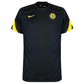21-22 Chelsea Strike Training Shirt - Black