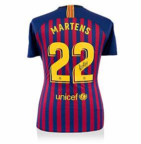 Lieke Martens Signed Barcelona Home Jersey 2018-2019