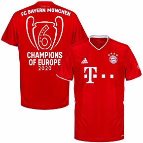20-21 Bayern Munich Home Shirt + Champions of Europe Print