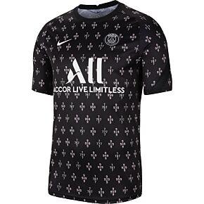 21-22 PSG Pre-Match Top - Pink/Black