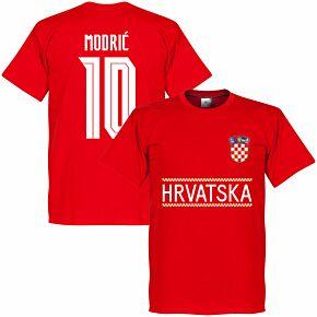 Croatia Modric 10 Team T-shirt - Red
