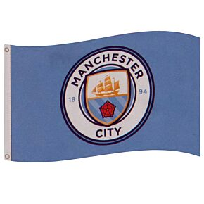 Man City Core Crest Flag (152 x 91cm)