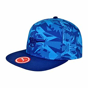 Arsenal Camo Snapback Cap - Blue