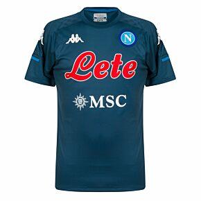 20-21 Napoli Training Shirt - Green/Blue