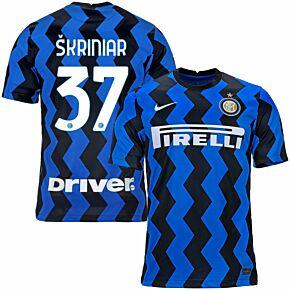 20-21 Inter Milan Home Shirt + Skriniar 37