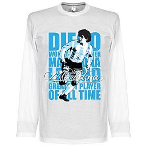 Maradona Legend L/S Tee - White