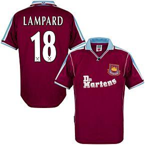 2000 West Ham Utd Home Retro Shirt + Lampard 18 (Retro Flex Printing)