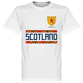 Scotland Retro 78 Team Tee - White
